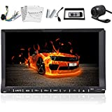 2 Din Car Stereo Autoradio In Dash Headunit 7 Inch LCD Touch Screen DVD CD Player Video Audio Bluetooth Car Auto Ipod FM AM Radio USB SD Rearview Backup Camera