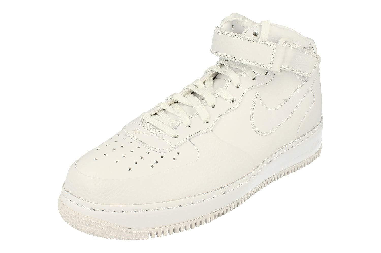 Weiß   schwarz (Weiß   Weiß-Weiß-schwarz) Nike NikeLab Air Force 1 Mid, Hausschuhe de Baloncesto para Hombre