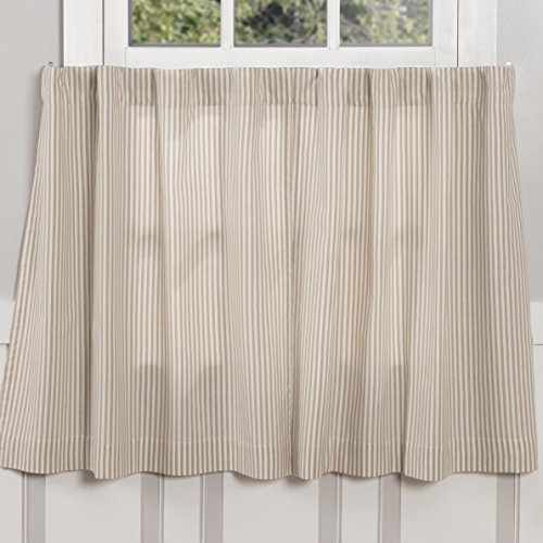 Piper Classics Farmhouse Ticking Stripe Taupe Tiers, Set of 2, 24