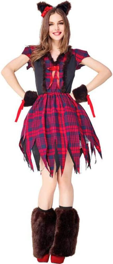 ASDF Disfraz de Halloween Lobo Disfraz Drama actuación en el ...