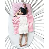 Baby Kids Cute Blanket Wrap Swaddle ,Oenbopo Toddler Baby Kids Lovely Rabbit Soft Warm Knit Blanket Sleeping Swaddle Cot Crib Wrap Quilt for Toddler Baby Kids 75X110CM