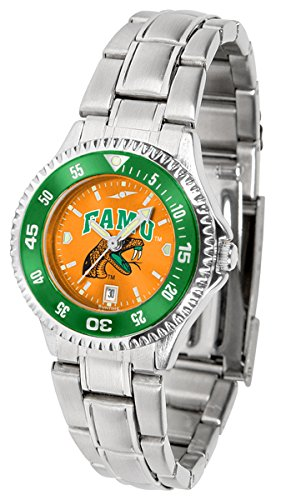 (Florida A&M Rattlers Women's Stainless Steel Dress Watch )