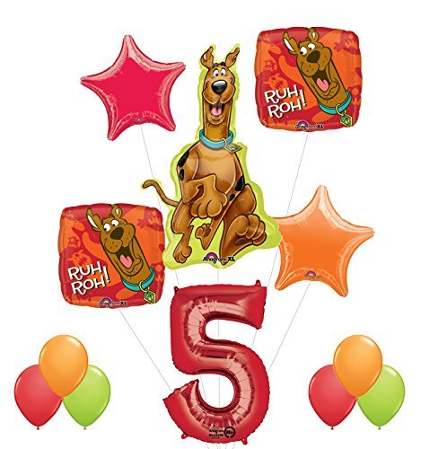 (Scooby Doo 5th Birthday Party Supplies and Balloon Decorations)