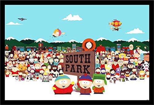 buyartforless IF GP FLM00315 36x24 1.25 Black Framed South Park Cast 36X24 Tv Art Print Poster Animation Characters Comedy - Sharon Park South