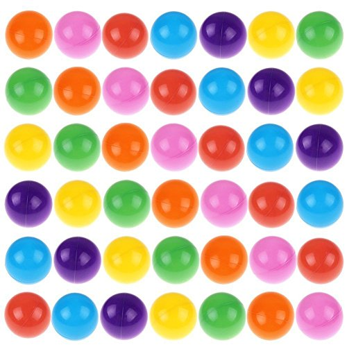 E Support 200pcs Baby Kid Toy Swim Pit Toy Colorful Ball Fun Ball Soft Plastic Ocean Ball from E Support