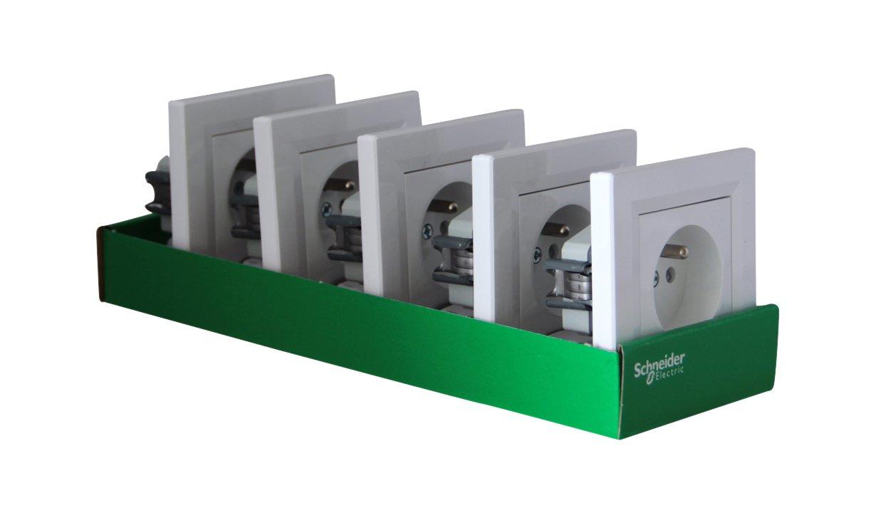 Schneider electric SC5EPH2823221-5 tomas de corriente con puesta a tierra asfora komplettset ras