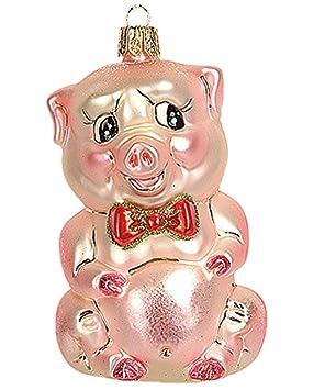 Christbaumschmuck Figuren Tiere Schweinchen Piggy 9cm