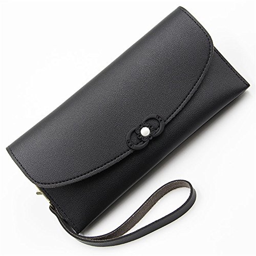 Women Large Travel Passport Wallet Multi Card Organizer Handbag with Coin Pocket