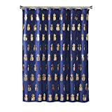 Cheap Fabric Shower Curtains SKL Home by Saturday Knight Ltd. Gilded Pineapple Fabric Shower Curtain, Navy/Gold