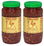 sambal chili garlic sauce - Huy Fong Sambal Oelek Ground Fresh Chili Paste (Large 18 oz Jars) 2 Pack
