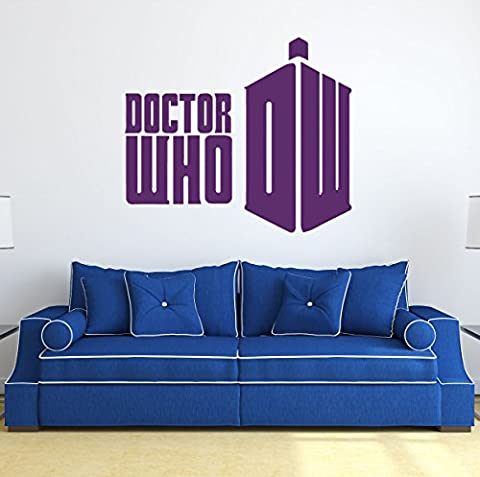 Doctor Who Wall Art - Doctor Who DW - Whovian Gifts, Vinyl Wall Decor For Your Home or Playroom, Doctor Who Decor