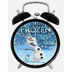 Disney Frozen Olaf Alarm Desk Clock 3.75 Home or Office Decor W472 Nice For Gift