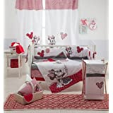 Disney Red Minnie Mouse Crib Bedding Collection 4 Pc Crib Bedding Set