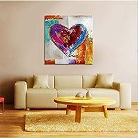 TKFY Astratto Dipinto a Mano Olio Pittura Cuore a Forma di Pittura Amore mostrando Muro Arte per L'Ufficio Hotel Decorazione Studio Interno incorniciato