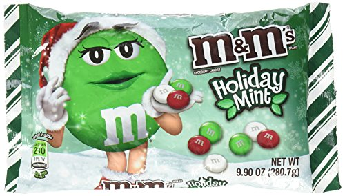 M&M'S Christmas Mint Chocolate Candy 9.9-Ounce Bag -