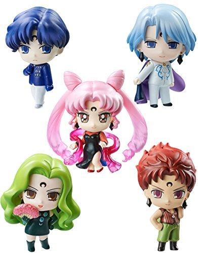Megahouse Petit Chara: Sailor Moon (Black Moon Version) Mini Figure Set Statue