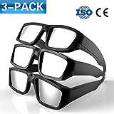 Eclipse Solar anteojos [3Pack] Cool estilo y Look CE y ISO Tamaño de prueba de adultos seguro Solar Viewing