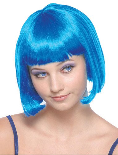 Short Neon Blue Wig - Adult (Katie Perry Costume)