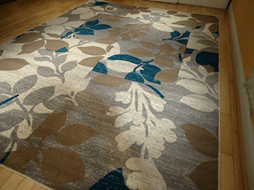 Large Multicolor Modern Area Rug 8x11 Rug Blue Carpet