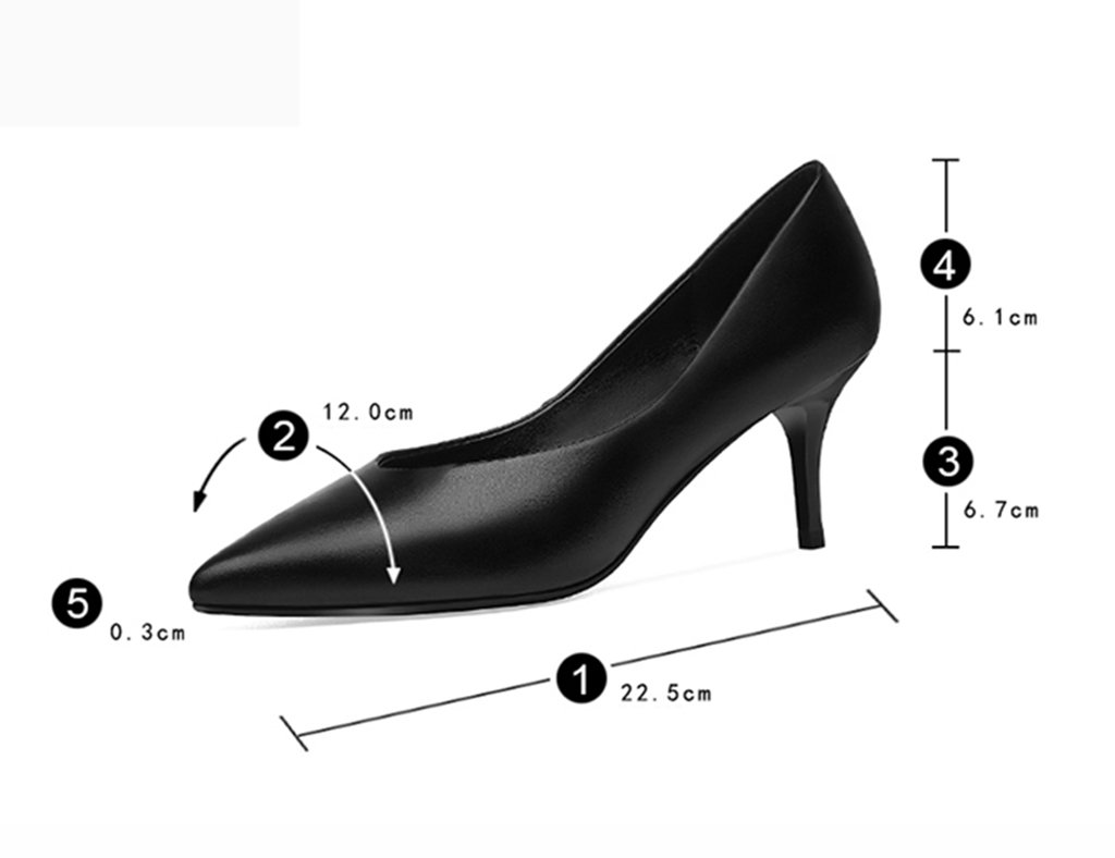 Scarpe donna a HWF Tacchi alti Bocca a donna bocca aperta Sexy scarpe da lavoro professionali Colore : Nero, dimensioni : 34) Nero d856ba
