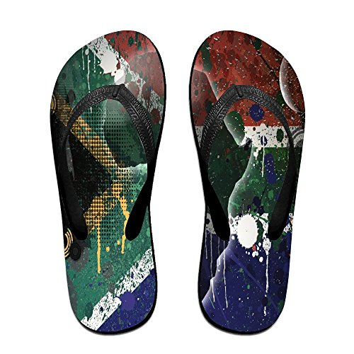 Unisex Flip Flopsrepublic Of South Africa South Africa Flag U Design Stylish Lightweight Sandals Shock Proof Beach Slippers by Egg Egg