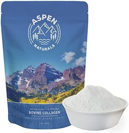Premium Grass Fed Collagen Peptides - 24 OZ Unflavored Protein Powder Supplement for Hair, Skin, Nails, Bone and Joint Health - Easily Mix into Water, Smoothies, Shakes, or Bone Broth - Aspen Naturals