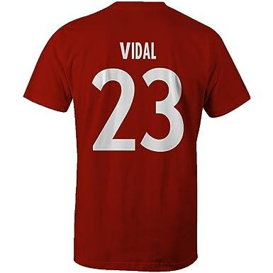 innovative design fd928 2c452 Arturo Vidal 23 Club Player Style T-Shirt Red/White: Amazon ...