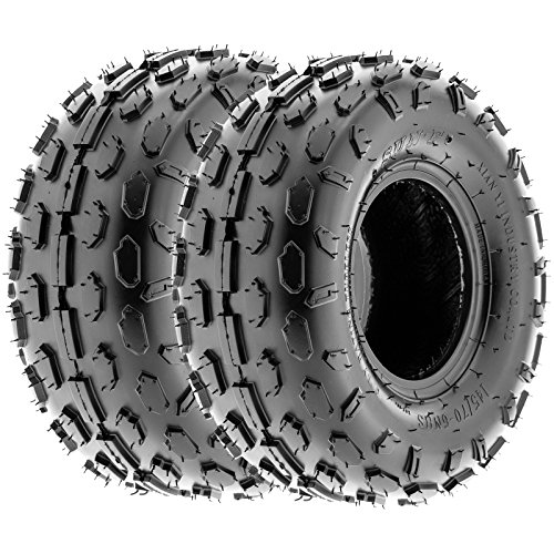 SunF Go Kart & ATV Knobby Sport Tires 145/70-6 145 70 6 4 PR A015 (Set pair of 2)