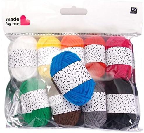 10 Mini pelotes de laine pastel 10x10 gr