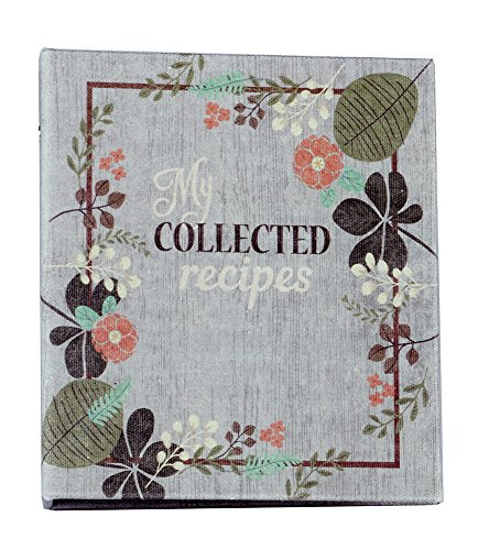 (Meadowsweet Kitchens (Fabric Covered) Recipe Card Cookbook Binder, Vintage Flowers design)