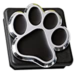 3D Chrome Emblem Trailer Hitch Cover Tube Plug Insert (Fits 2″ Receivers, Bear Dog Animal Paw Foot)
