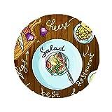 DIYthinker Salad Cheese Figs France Restaurant Anti-slip Floor Pet Mat Round Bathroom Living Room Kitchen Door 60/50cm Gift