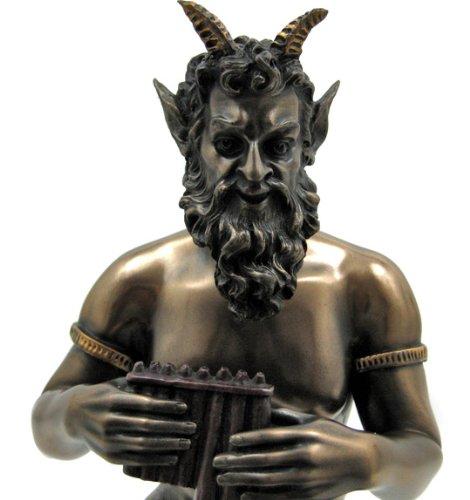 Amazon.com: Bronzed Finish Pan Faun Statue Greek Mythology By Private  Label: Home U0026 Kitchen