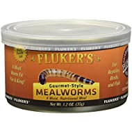 Fluker's Gourmet Canned Food for Reptiles, Fish, Birds and Small Animals, Black, Mealworms