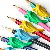 Bleistift Grip Dolphin Art-Pencil-Grip Original-universelle ergonomische Schreibhilfe für Rechtshänder Schreibhilfen 10 Stücke farbig sortiert (typ 1)