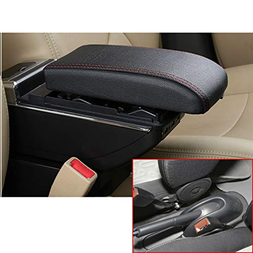 MyGone for Suzuki Celerio Alto 08-16 Car Center Console USB Armrest Storage Box Accessories,Arm Rest?with Cup Holder,Removable Ashtray,Charging Function?Black