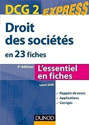 DCG 2 - Droit des sociétés - 3e éd. - en 23 fiches