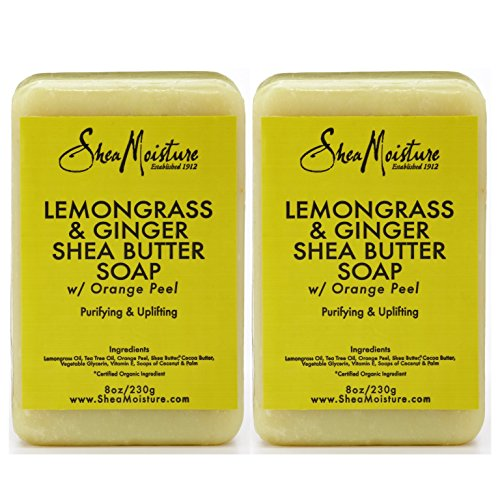 - SheaMoisture Lemongrass & Ginger Shea Butter Soap - 8 oz (Pack of 2)