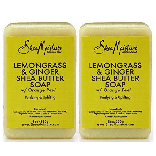 SheaMoisture Lemongrass & Ginger Shea Butter Soap - 8 oz (Pack of 2)