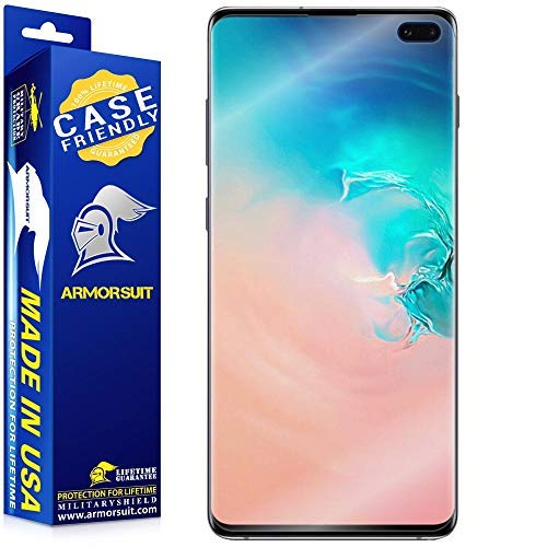 [2 Pack] ArmorSuit MilitaryShield [Case Friendly] Screen Protector for Samsung Galaxy S10 Plus (S10+ 6.4