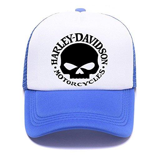 Trucker Men Women Hat Caps Cap D Baseball Blue de Black 001 Mesh Gorras Girl For Boy béisbol Harley 0q1WR8f