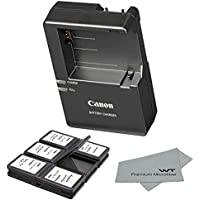 Canon replacement LC-E8E Quick Charger for Canon LP-E8 Li-ion Battery compatible with Canon EOS 550D, EOS 600D, EOS Rebel T2i, EOS Rebel T3i + Bonus Items!