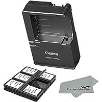 Canon replacement LC-E8E Quick Charger for Canon LP-E8 Li-ion Battery compatible with Canon EOS 550D, EOS 600D, EOS Rebel T2i, EOS Rebel T3i + Bonus Items!