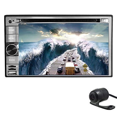 6.2-Inch Double-DIN universal Multi-Touchscreen car CD DVD Player Video Android 4.2.2 car stereo radio With WIFI,GPS navi/USA/Canada/Mexico Map,BT USB/SD Aux-In+remote control+Free HD camera included