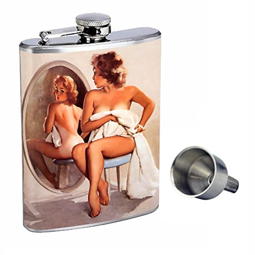 新しいブランド Pin Free Up Girl Perfection inスタイル8オンスステンレススチールWhiskey d-079 Flask with with Free Funnel d-079 B015QN9SRQ, 西彼町:f61db70c --- domaska.lt