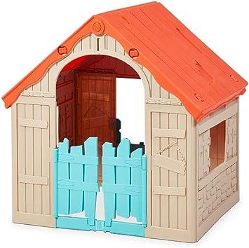 Cabane Maison De Jardin En Plastique Pour Pliante Pliable Keter Jeu Jouet Exterieur Enfant Porte Volet Fenetre Ranch Amazon Fr Jeux Et Jouets