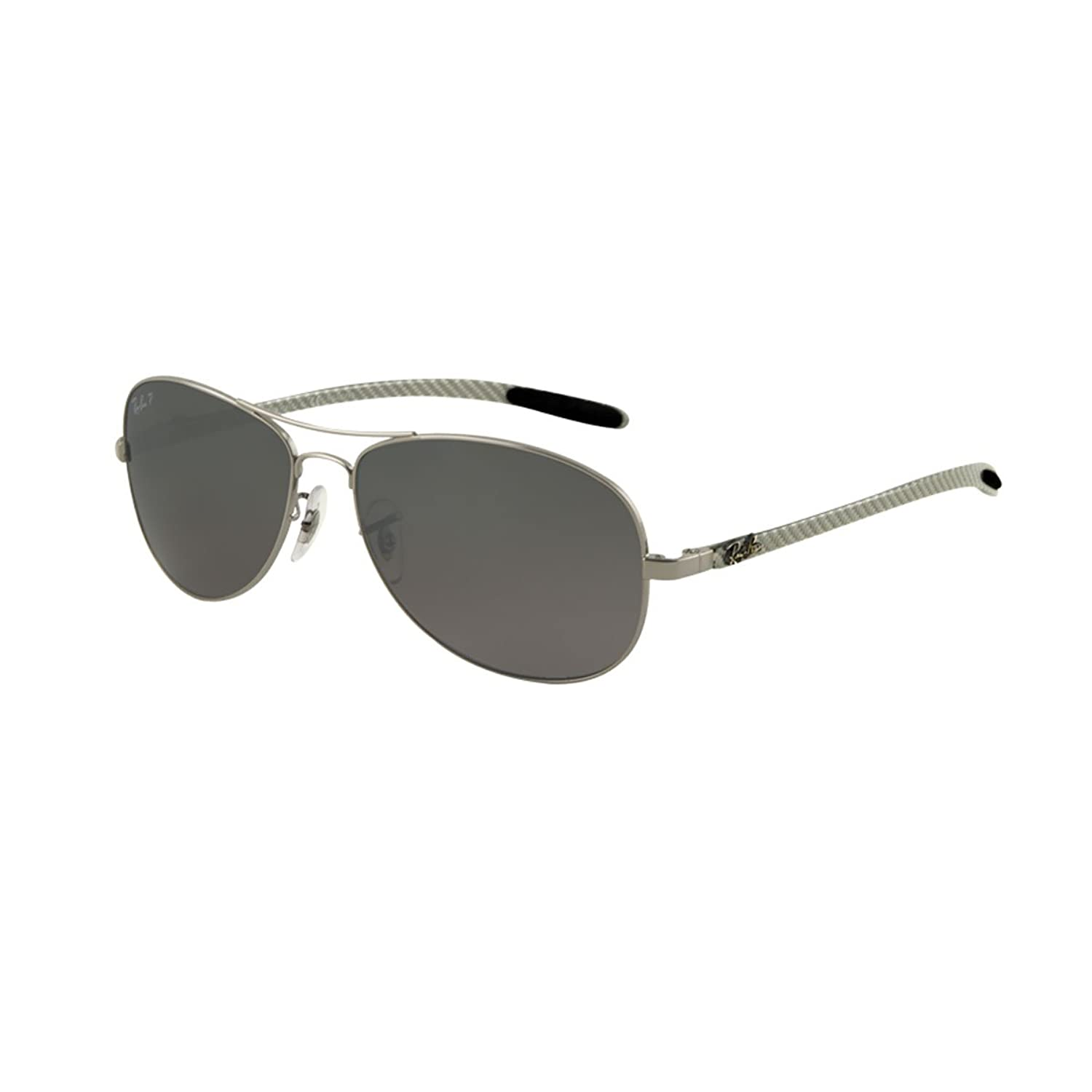 Amazon.com: Ray-Ban RB8301 - GUNMETAL Frame CRY. POLAR GRAY MIR SILVER GR Lenses 59mm Polarized: Ray-Ban: Clothing