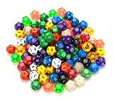 100+ Pack of Random D12 Polyhedral Dice in Multiple Colors By Wiz Dice