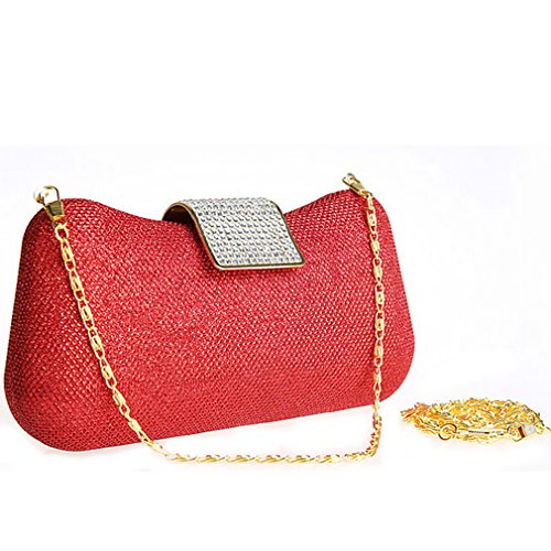 Belsen Red Wedding Clutch Women's Bags Sequins Evening qFrwUn1qC