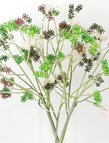 RZAOHuaj,Artificial flowers, decorative bouquet, Small Viburnum Fruit Grass in Plastic Artificial Grass for Home Decoration (set of 2) , pink